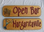Wood bar signs