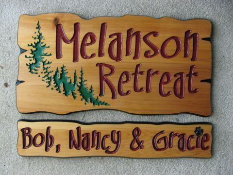 Wooden Sign Retreat and family names