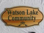 Wooden sign community
