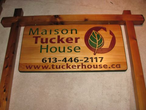 Commerical wood sign double sided