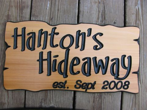 Wooden cottage sign - Rustic