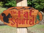 Cottage sign Squirrel Tree mountains - the fat squirrel