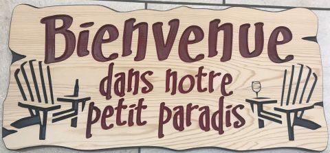 French wooden sign
